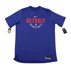New Nike NBA Detroit Pistons Team Issued Shirt